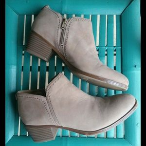 Naturalizer Zarie Ankle Booties Tan Taupe EUC Zip